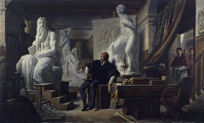 Cabanel-Michelangelo-Visited-in-His-Studio-by-Pope-Julius-II